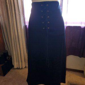 NWT C.O.C. lace up black pencil skirt sz 2XL